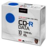 HIDISC TYCR80YP10SC CD-R データ用 48倍速 700MB ホワイトワイドプリンタブル 5mmスリムケース 10枚