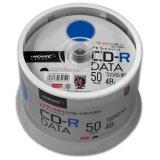 HIDISC TYCR80YP50SPMG CD-R データ用 48倍速 700MB ホワイトワイドプリンタブル スピンドルケース 50枚