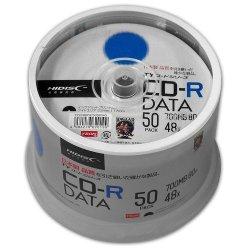 画像1: HIDISC TYCR80YP50SPMG CD-R データ用 48倍速 700MB ホワイトワイドプリンタブル スピンドルケース 50枚