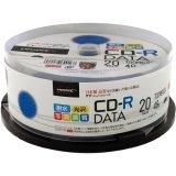 HIDISC TYCR80YPW20SP CD-R データ用 48倍速 700MB 写真画質 光沢 ホワイトワイドプリンタブル ウォーターシールド スピンドルケース 20枚