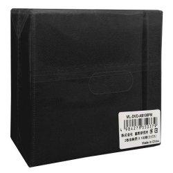 画像1: HI DISC ML-DVD-AB100PB★送料無料★ ハイディスク 両面不織布2枚収納×4800枚(ブラック)