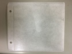 画像1: 2穴 厚手両面収納不織布ケース 1パック100枚
