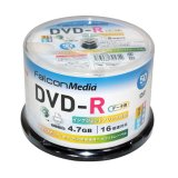 エプソンPP認定メディア FalconMedia BE035 スマートガードAquaAce (耐水・光沢写真画質)DVD-R16倍 1スピンドル50枚