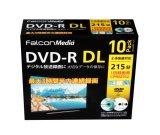 FalconMedia BE070 録画用(CPRM対応)DVD-R DL8倍 1パック10枚