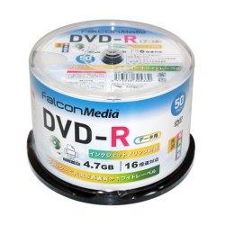 画像1: FalconMedia BE033  グロッシー(光沢写真画質)DVD-R16倍 1スピンドル50枚