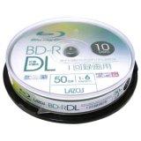 Lazos L-BDL10P  BD-R DL  6倍速 50GB 10枚 スピンドルケース