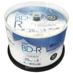 画像1: Lazos L-B50P BD-R  25GB 6倍速 ★送料無料★ 1ケ-ス500枚
